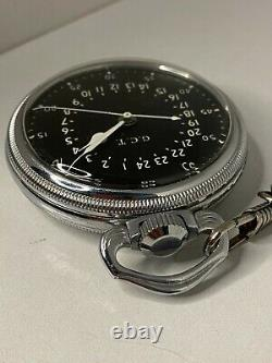 Antique Hamilton 4992B GCT WWII Military Pocket Watch, 22j, RUNNING, with FOB