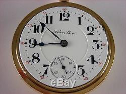 Antique Hamilton 940 18s Rail Road pocket watch 1908. 21j. Lovely decorated case
