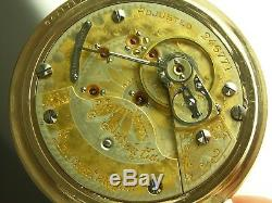 Antique Hamilton 940 two tone 21 jewel 18s Rail Road pocket watch. Gold filled