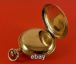 Antique Hamilton 941 Pocket Watch Gold Fill Hunter Case 21 Jewels 18 Sz Ca. 1910