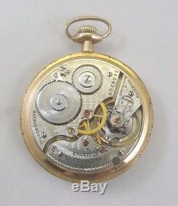 Antique Hamilton 972 Railroad Open Face Double Roller Pocket Watch