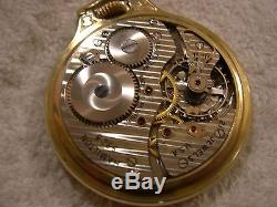 Antique Hamilton 992 B 21 Jewels Pocket Watch/ 10 K Gold Filled Case