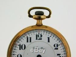 Antique Hamilton Gold Filled Model 2 21 Jewel Grade 992 Size 16 Pocket Watch