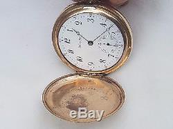 Antique Hamilton Hunter Case Gf Pocket Watch