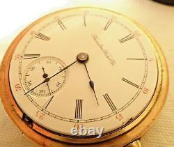 Antique Hamilton Pocket Watch 18S 21J Runs Serviced 941 Railroad Grade GF Case