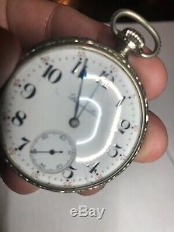 Antique Hamilton Pocket Watch 21 Jewels Running Condition