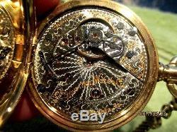 Antique Hamilton Railroad Pocket Watch 946 14K Case