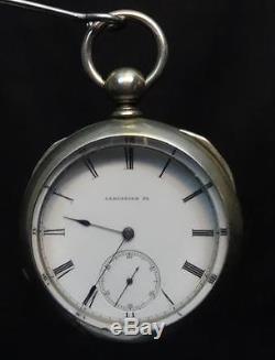 Antique Lancaster, Pa. Pocketwatch wit Key Pre-Hamilton Name Works