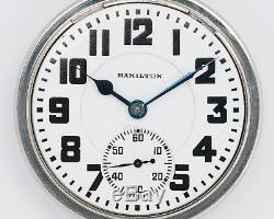 Antique NICE 1947 Hamilton 16s 21j Adj. #992B Pocket Watch out of Estate! RUNS