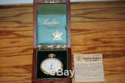 Antique Rare HAMILTON Solid 14k Yellow Gold # 900 Pocket Watch 19 Jewels & Case