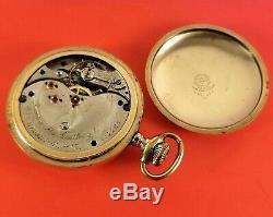 Antique Swiss Made Pocket Watch Davis & Mc. Cullough Hamilton Ont. Fancy Dial