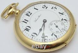 Antique USA Hamilton18k gold pocket watch 23Jewel Grade950 In good working order