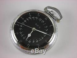 Antique all original 16s Hamilton 4992B Navigational pocket watch 1950. 22 jewel