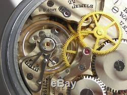 Antique all original 16s Hamilton 4992B WW2 Navigational pocket watch made 1941