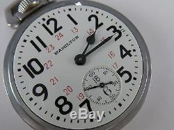 Antique all original 16s Hamilton 992B WW2 US Army pocket watch made 1943
