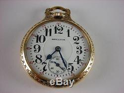 Antique all original Hamilton 992 Rail Road pocket watch 1926. 21 ruby jewels
