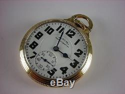 Antique early 16s Hamilton 992B Railway Special pocket watch 1940 21j high grade