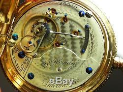 Antique early high grade Hamilton 931 pocket watch 1895. Amazing Hunter case
