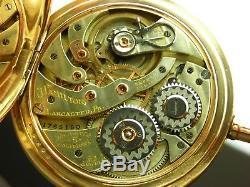 Antique original 12s Hamilton 920 hi-grade pocket watch in box 1911 Lovely case