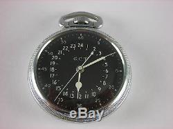 Antique original 16s Hamilton 4992B Navigational pocket watch 1942. Great case