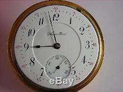 Antique original 16s Hamilton 954 Rail Road pocket watch in box. 1911. 17 jewels