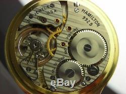 Antique original 16s Hamilton 992B Railway Special pocket watch 1962. Nice case