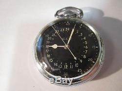 Antique original Hamilton 16s 4992B Navigational WW2 pocket watch made 1942. 22j