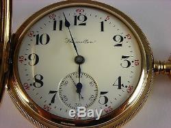 Antique original Hamilton 975 pocket watch 1910. Amazing condition! Hunter case