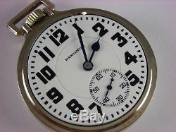 Antique original Hamilton 992 21 jewel Rail Road pocket watch 1927 Model 5 case