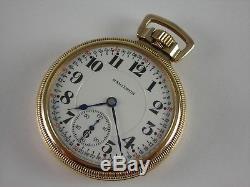 Antique original Hamilton 992 hi-grade Rail Road pocket watch 1926 Amazing case