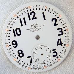 BALL HAMILTON 999B 16s MELAMINE MONTGOMERY RAILROAD POCKET WATCH DIAL