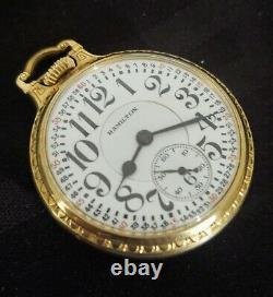 BEAUTIFUL Hamilton 992 ELINVAR Railroad16 Size 21J Pocket Watch Super Monte Dial