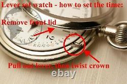 BIG Gold 1909 Hamilton 21 Jewel RAILROAD Grade 940 Pocket Watch 12/24/60 Dial