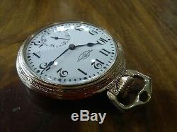 Ball 16s Pocket Watch / Hamilton 23 Jewels, Ball Case and professionally