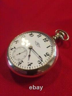 Ball 18s 19j Official Standard Railroad Pocket Watch Only 4,575 Made-Runs Great