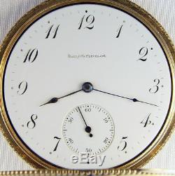 Ball Hamilton 14k Gold Early Grade 972 16s 17j Rare Pocket Watch