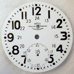 Ball Hamilton 16 Size 24 Hour Official Railroad Standard Pocket Watch Dial