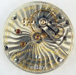 Ball Hamilton 21 Jewel 18 Size Official Rr Standard Grade 999 Pocket Watch Mvt