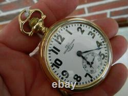 Ball-Hamilton 23J 999N With Rare Leather Ball Marked Case Stand
