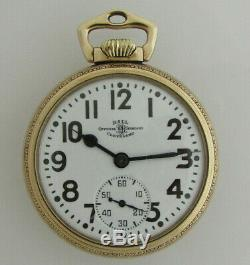 Ball Hamilton 998 23 Jewel Elinvar 16 size pocket watch with engraved train case