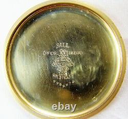 Ball Hamilton 999B Pocket Watch, 21 Jewel, Adjusted 6 Positions, ca 1947