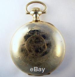 Ball Hamilton B Of Lf Rare Brotherhood Color Logo Dial 18 Size 17j Pocket Watch