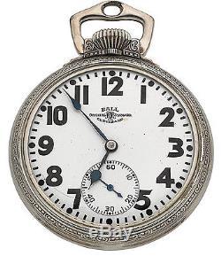 Ball Hamilton Official Standard 999P 16sz 21j Pocket Watch WGF Stirrup Case