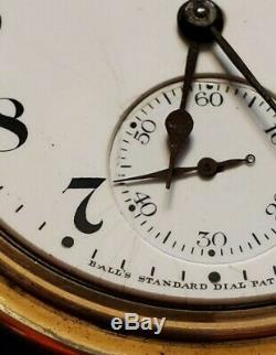 Ball Watch Co Hamilton 999G 18s 19J with Ball Case 1906 Pocket Watch