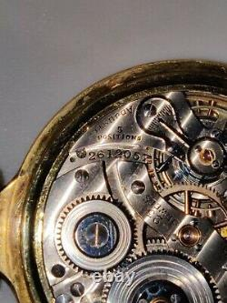 Beautiful 1937 Hamilton 950E Pocket Watch 23J OF 10K GF Mainliner case