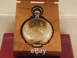 C. 1904 Hamilton 18s 21J 941 Special Multicolored Dial Box Hunter RR Pocket Watch