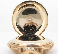C. 1913 Hamilton 941 Heavy 14K Multicolour Gold Box Hinge 18s 21J Pocket Watch