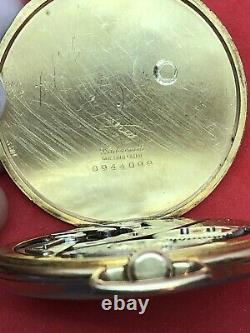 C. 1932 Hamilton Grade 400 12s Pocket Watch 14k Gold Filled Case Only 2300 Made