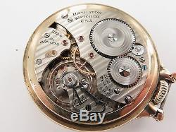 C1943 Hamilton, Grade 992b, 16s 21j 10k G/f Pocket Watch Working Order