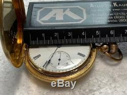 E. Howard & Co. 18k Yellow Gold, Vintage 18 Size Hunters Pocketwatch